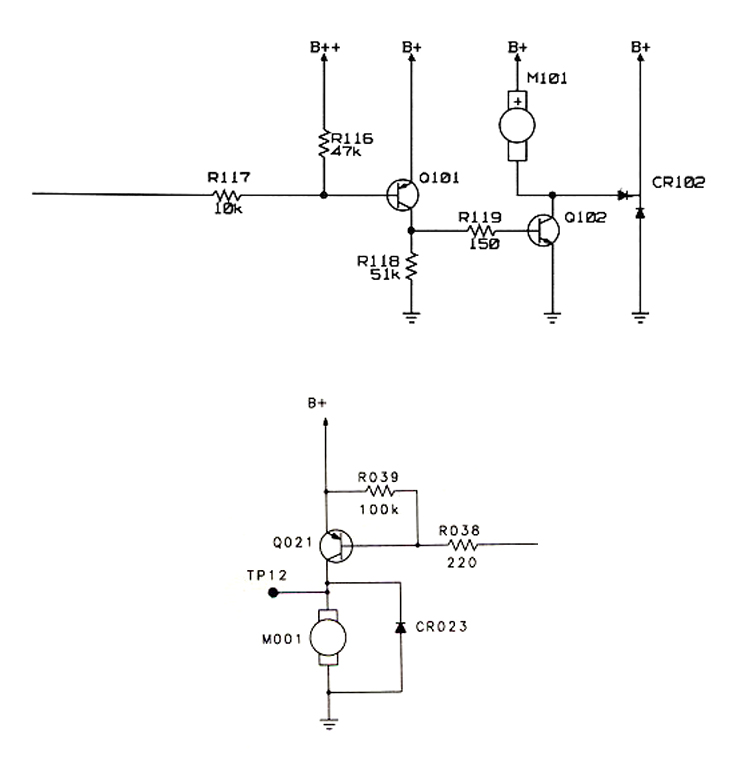 Drawing of drive circuit for vibration motor. For use with any micro DC vibrator motor.