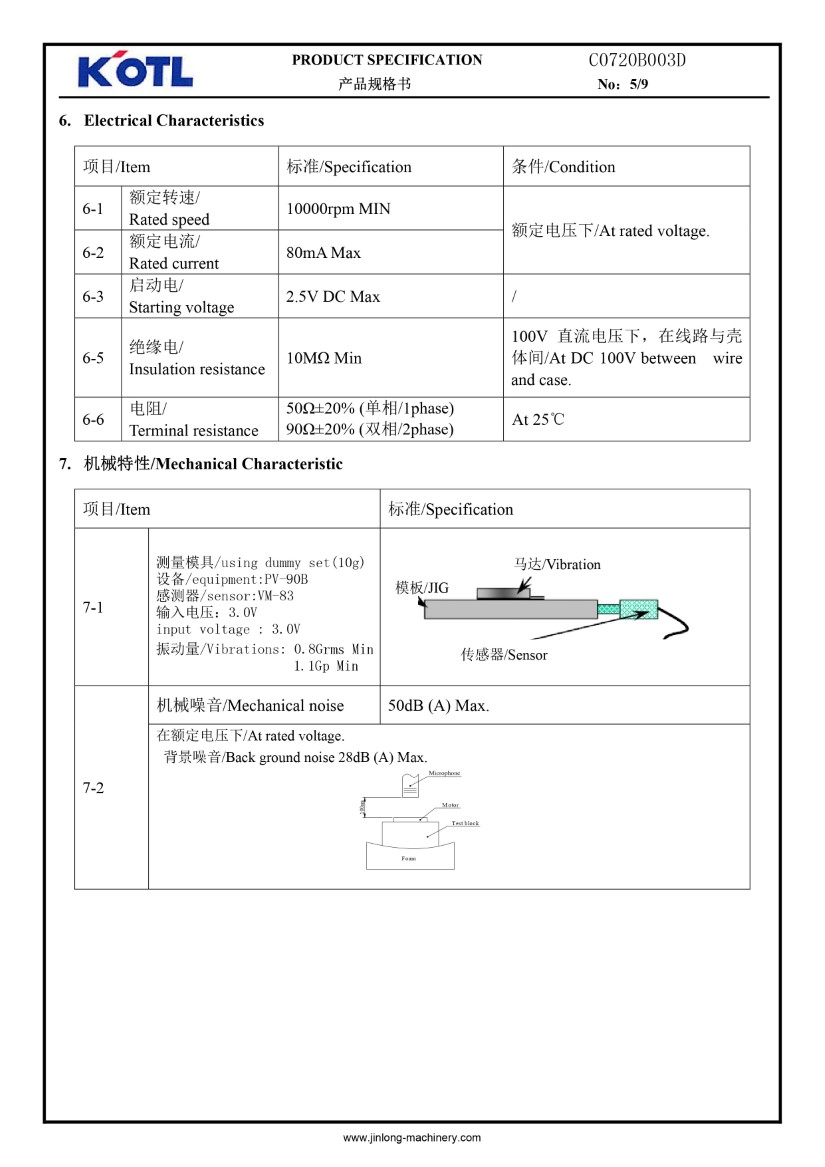 C0720B003D Coin Vibration Motor 02