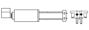Cylindrical Vibration Motors - WIRE LEAD w. CONNECTOR