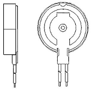 Encapsulated Vibration Motors (Overmoldable) - WIRE LEADS