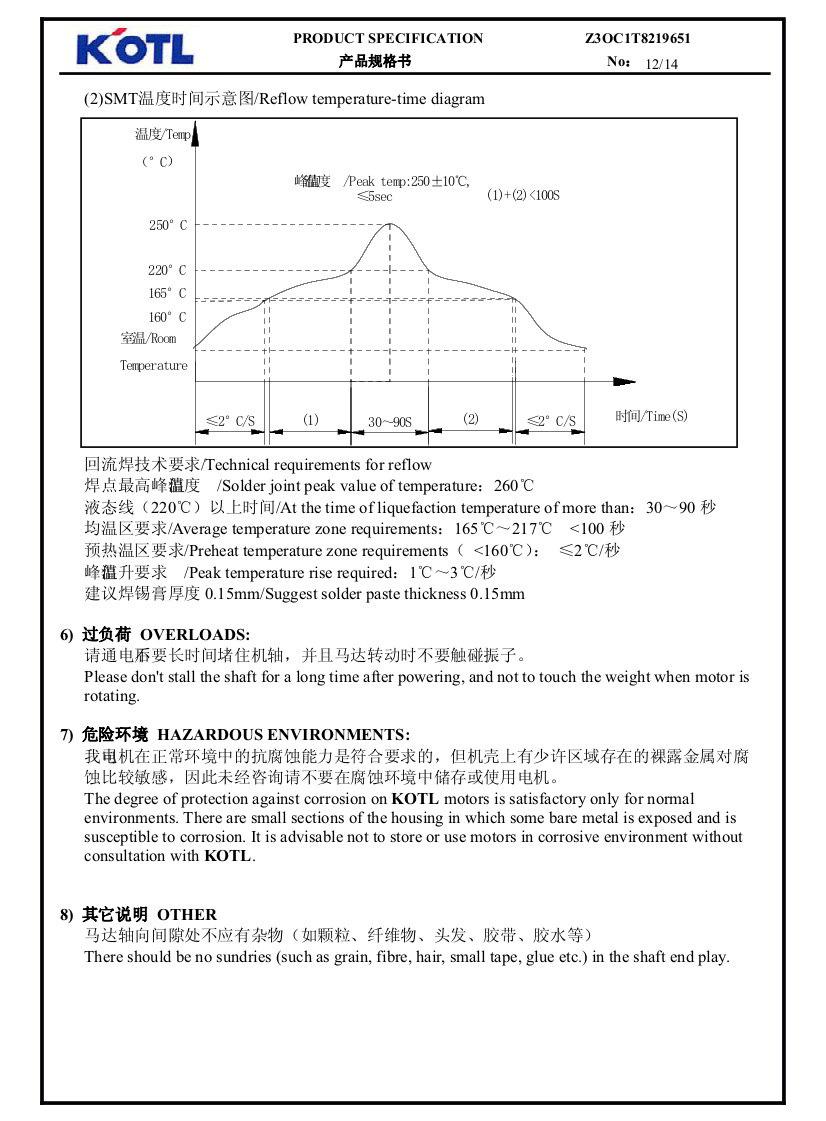 Z30C1T8219651 SMD Reflow - Surface Mount Vibration Motor 10