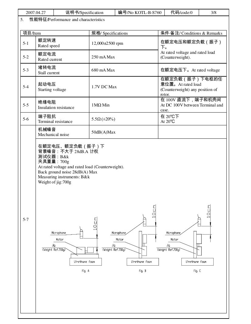 Z7AL2B1690002 Wire Leads Cylindrical Vibration Motor 02