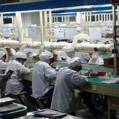 Vibration Motor Factory Production Line - FUME EXTRACTORS