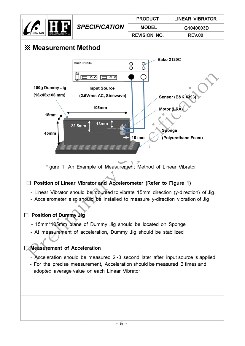 G1040003D Highest G Force Coin LRA Linear Vibration Motor 05