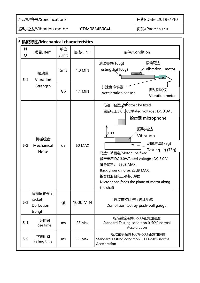 CDM0834B004L Double Magnet Coin Vibration Motor 06