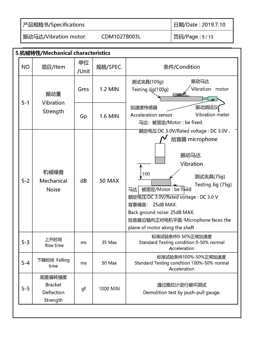 CDM1027B003L Double Magnet Coin Vibration Motor 06