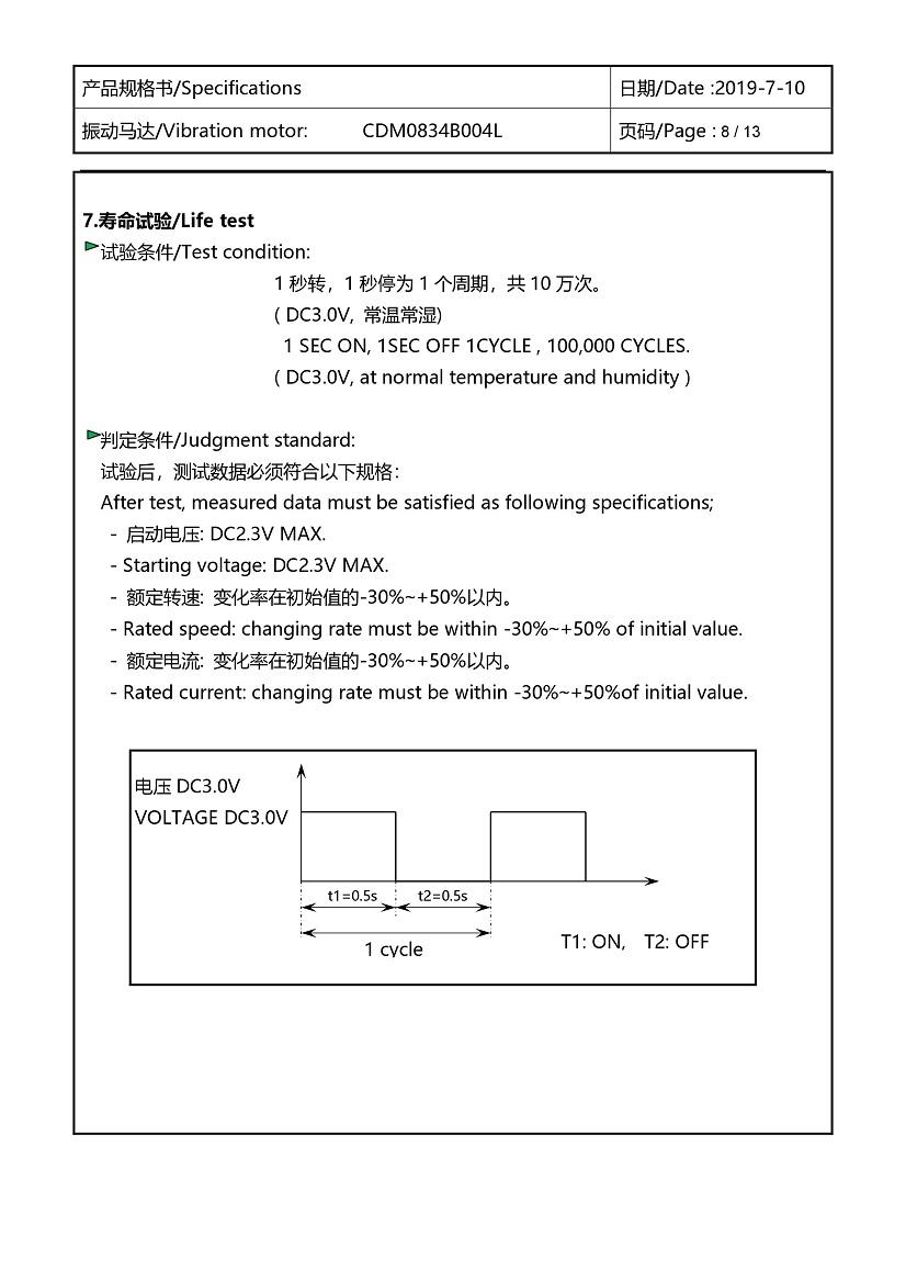 CDM0834B004L Double Magnet Coin Vibration Motor 09