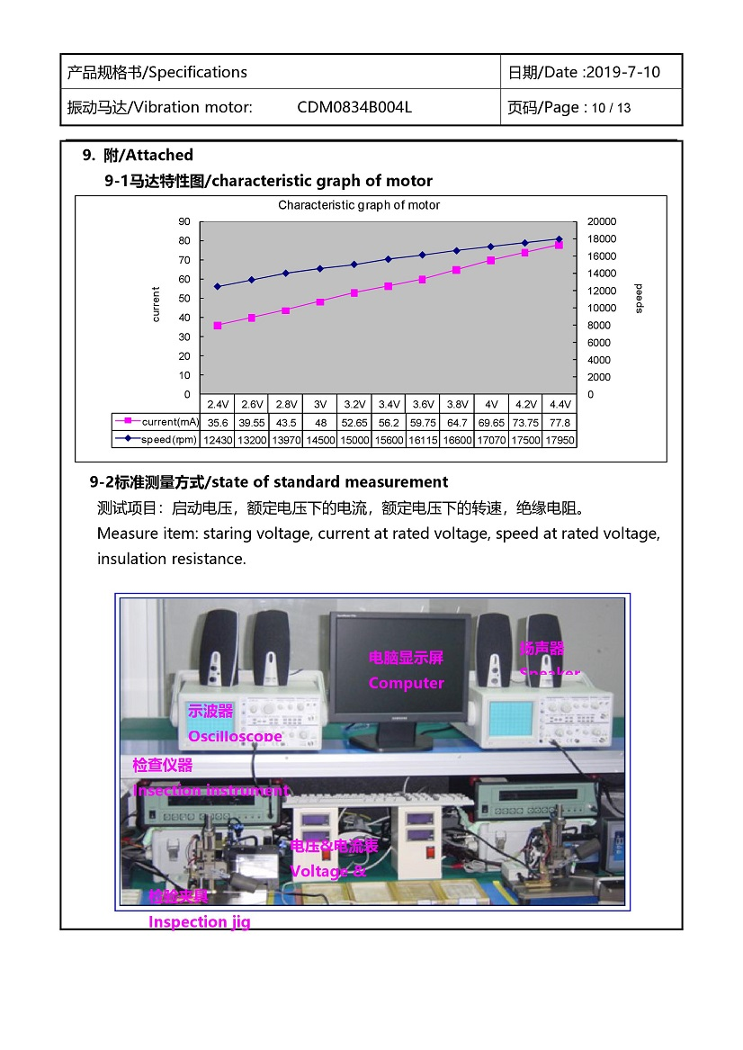CDM0834B004L Double Magnet Coin Vibration Motor 11