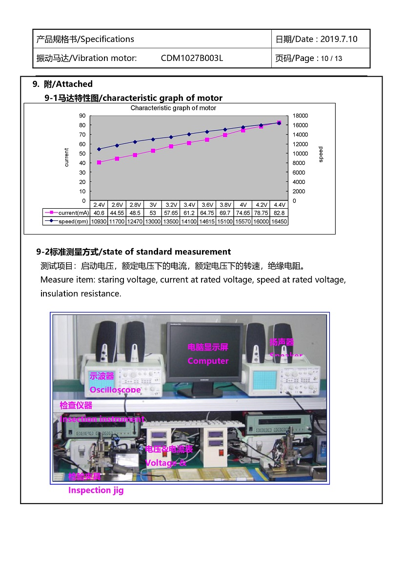 CDM1027B003L Double Magnet Coin Vibration Motor 11