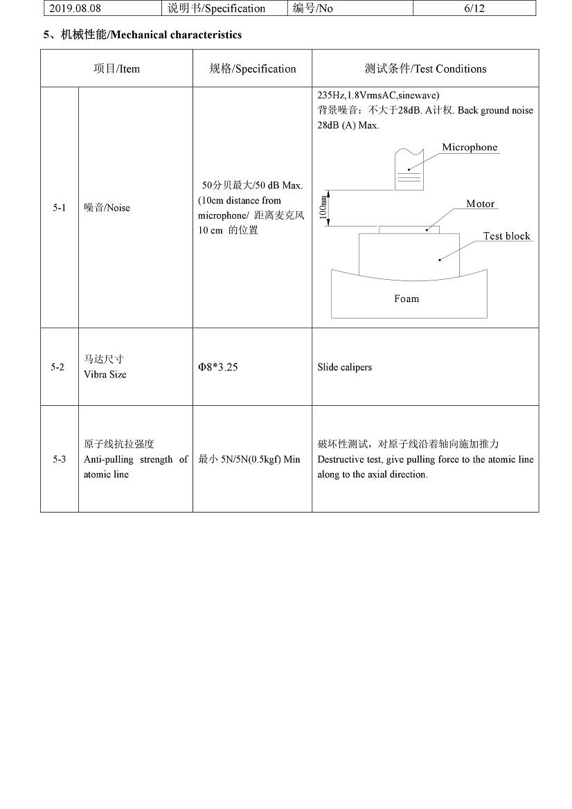 G0832022D LRA Linear Vibration Coin Motor 07