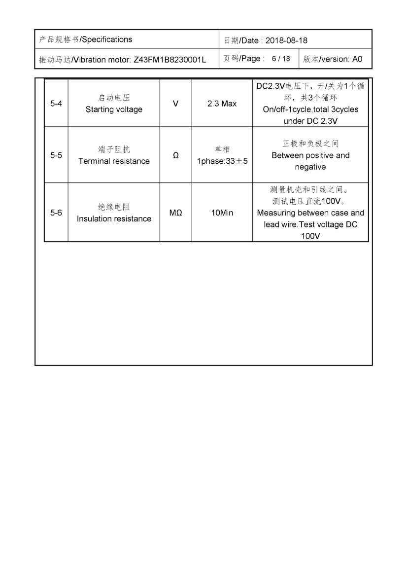 Z43FM1B8230001L Cylindrical core SMT Motor 06