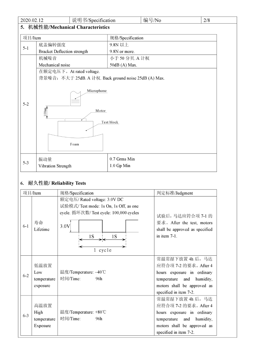 C0830B001L 3V Coin Vibration Motor datasheet 04