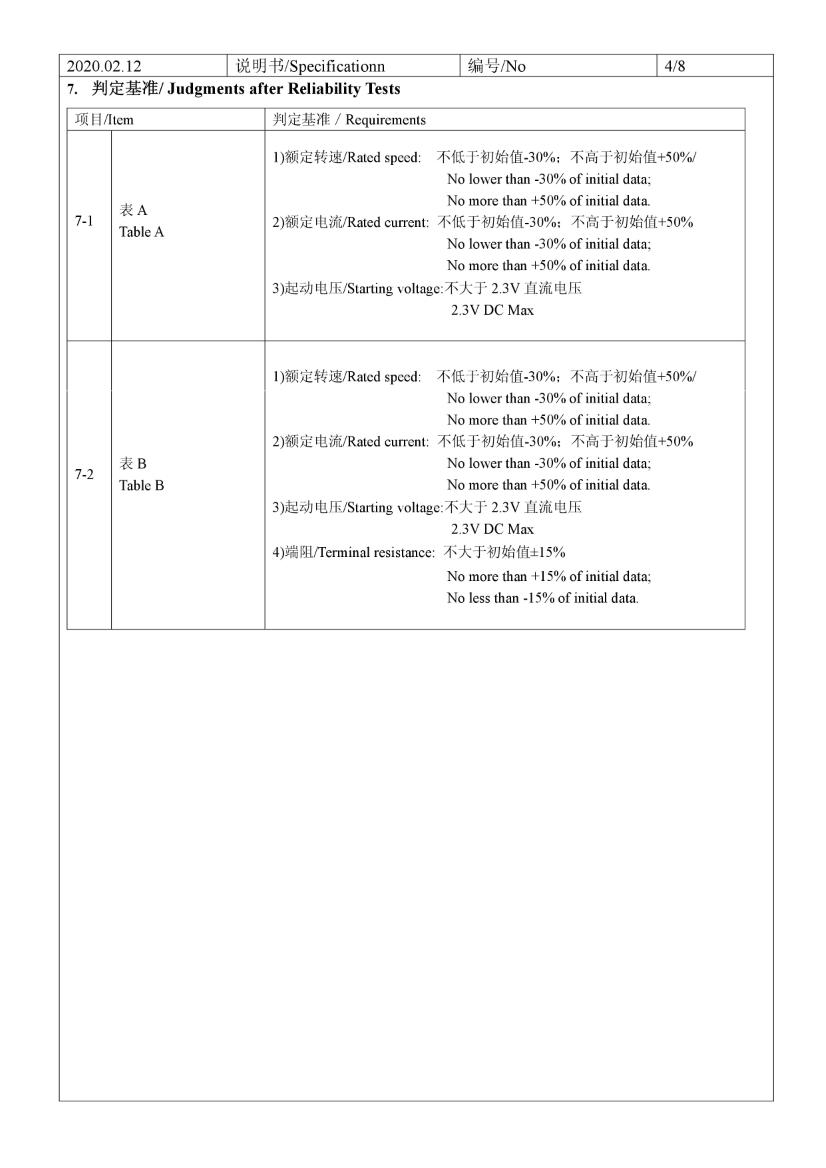 C0830B001L 3V Coin Vibration Motor datasheet 06