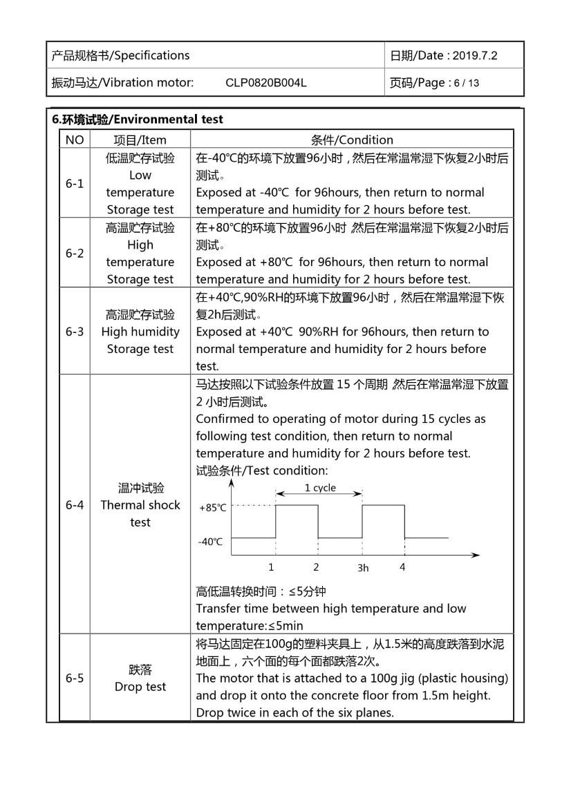 CLP0820B004L Coin Vibration Motor Mechanical Data 07